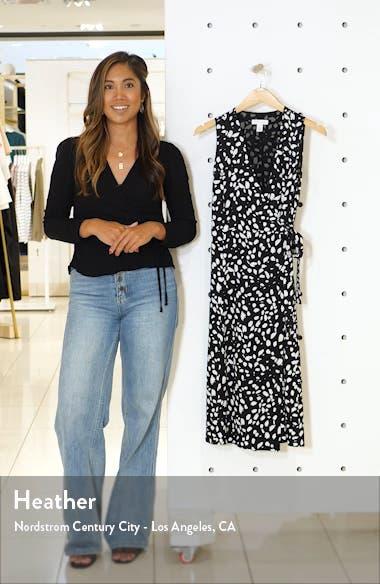 Silk Blend Wrap Dress, sales video thumbnail