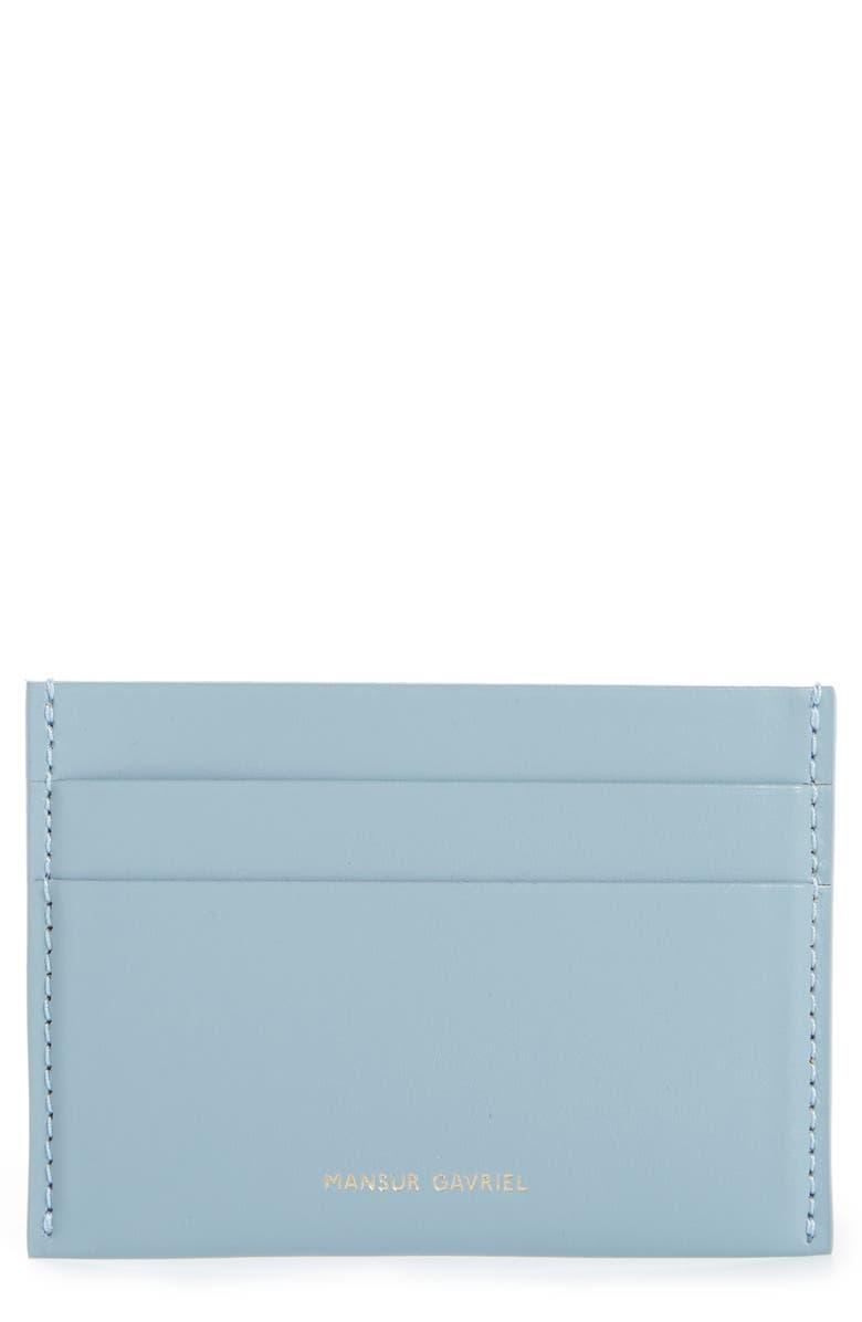 MANSUR GAVRIEL Leather Card Holder, Main, color, 405