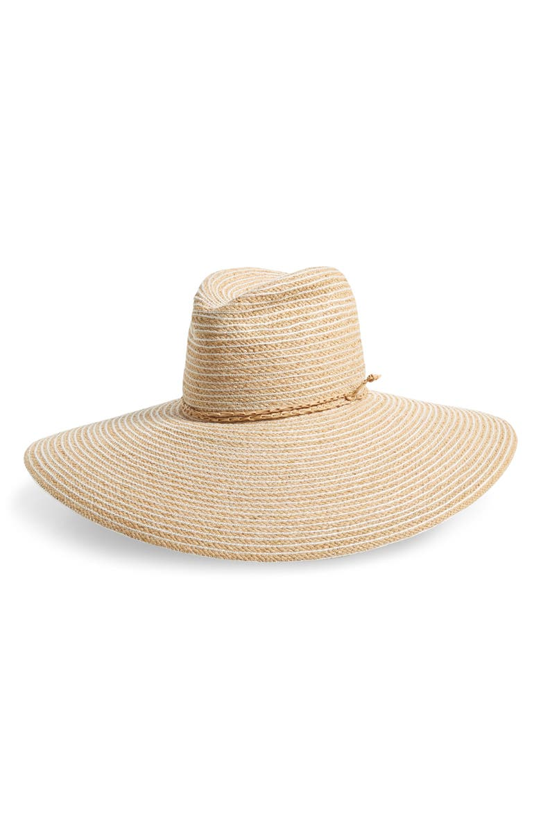 LOLA HATS Jolly Rancher Straw Hat, Main, color, NAT/ WHITE