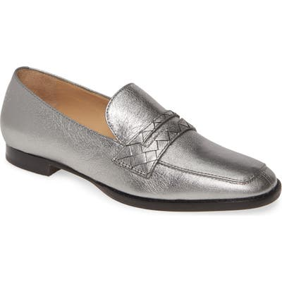 Johnston & Murphy Suzanna Penny Loafer, Metallic