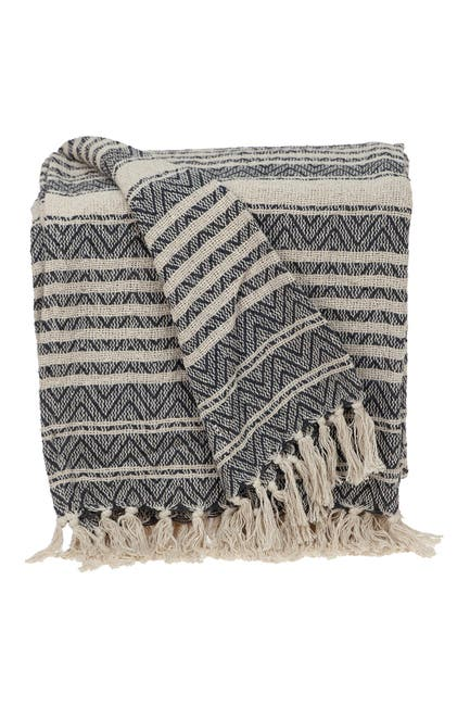 """Image of Parkland Collection Centra Transitional Beige 52"""" x 67"""" Woven Handloom Throw"""