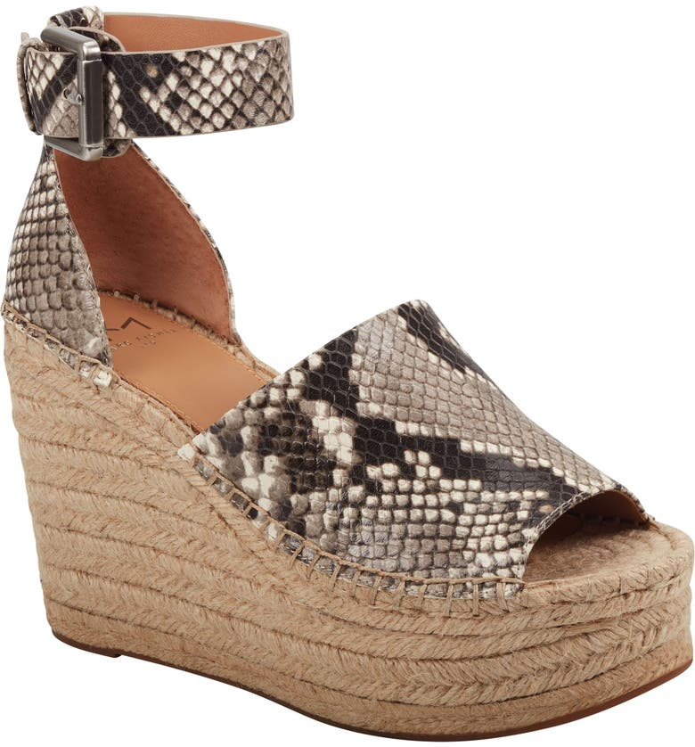 MARC FISHER LTD Adalyn Espadrille Wedge Sandal, Main, color, SNAKE PRINT LEATHER