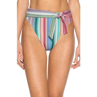 Isabella Rose Adelaide High Waist Bikini Bottoms, Coral