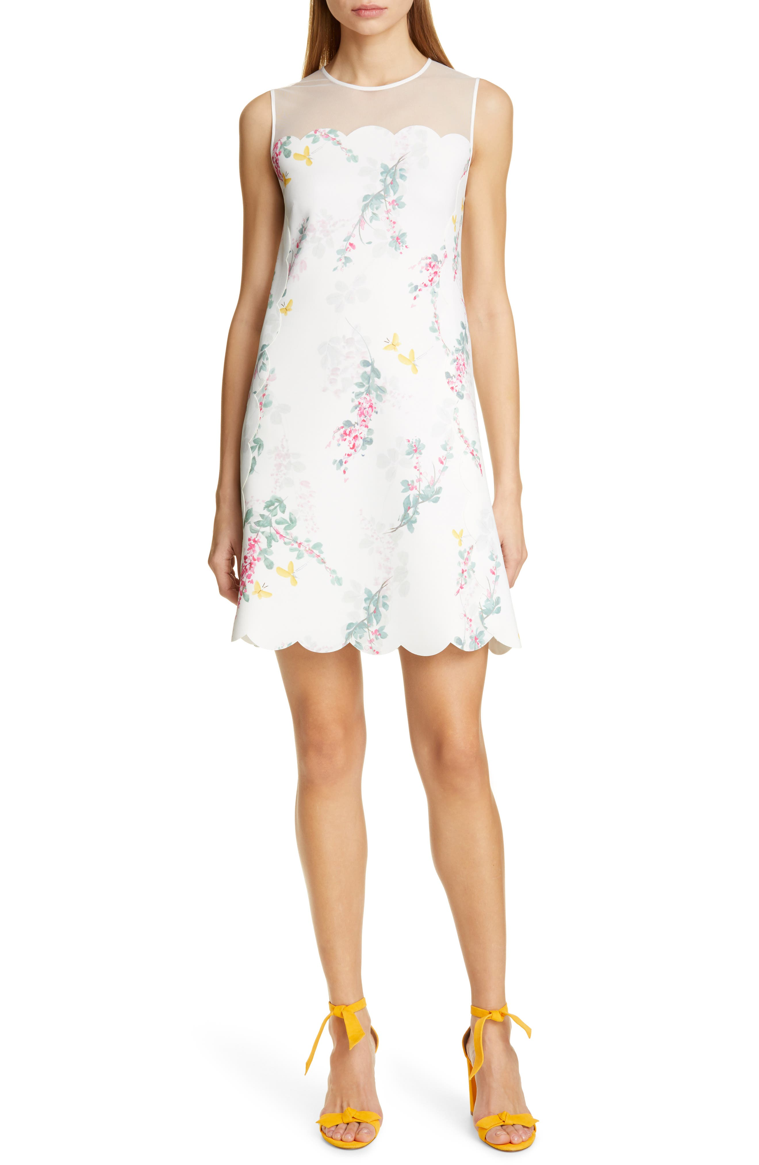 Ted Baker London Cainey Sorbet Shift Dress, White