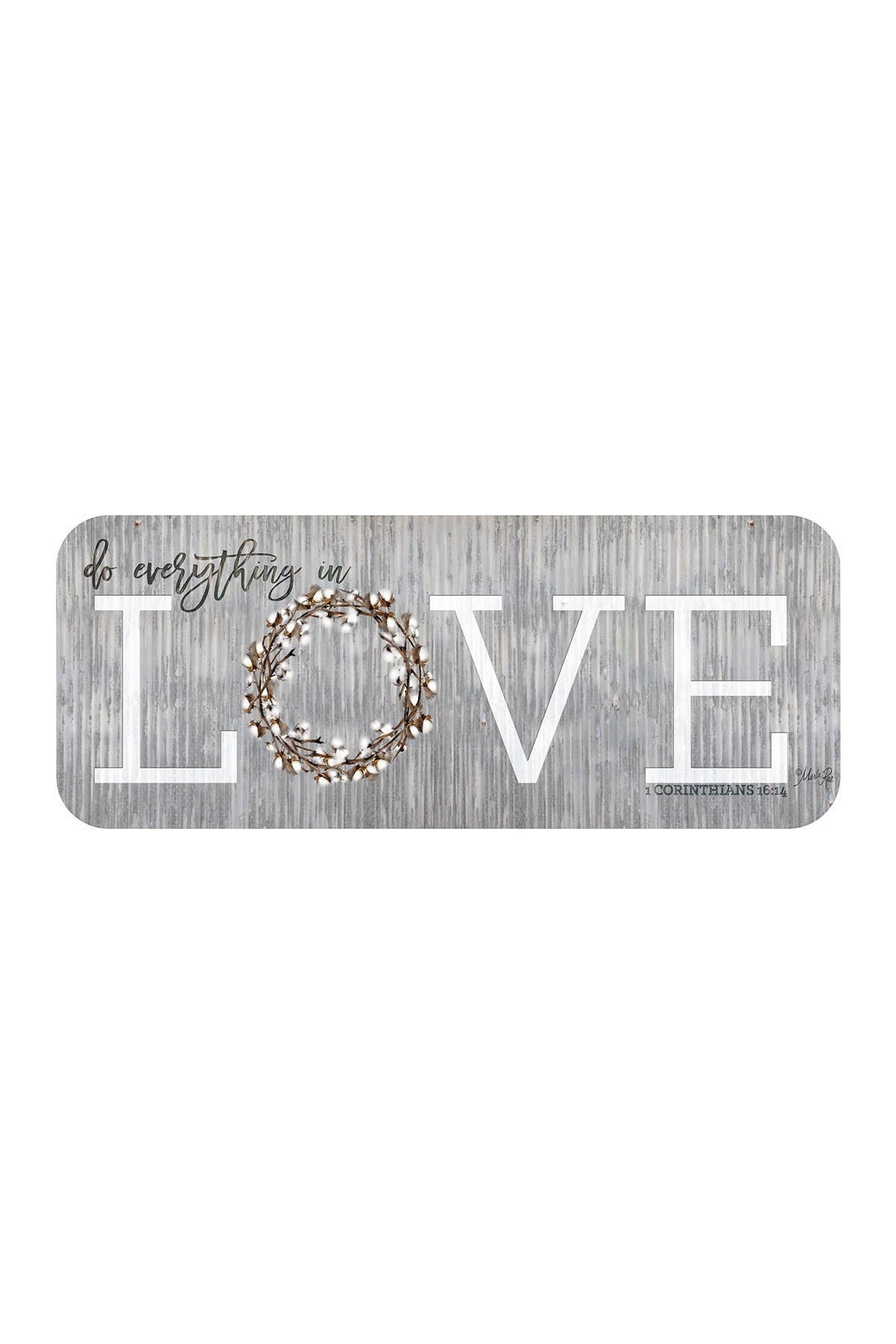 "Image of COURTSIDE MARKET Do Everything In Love 12"" x 30"" Gallery Art Decal"