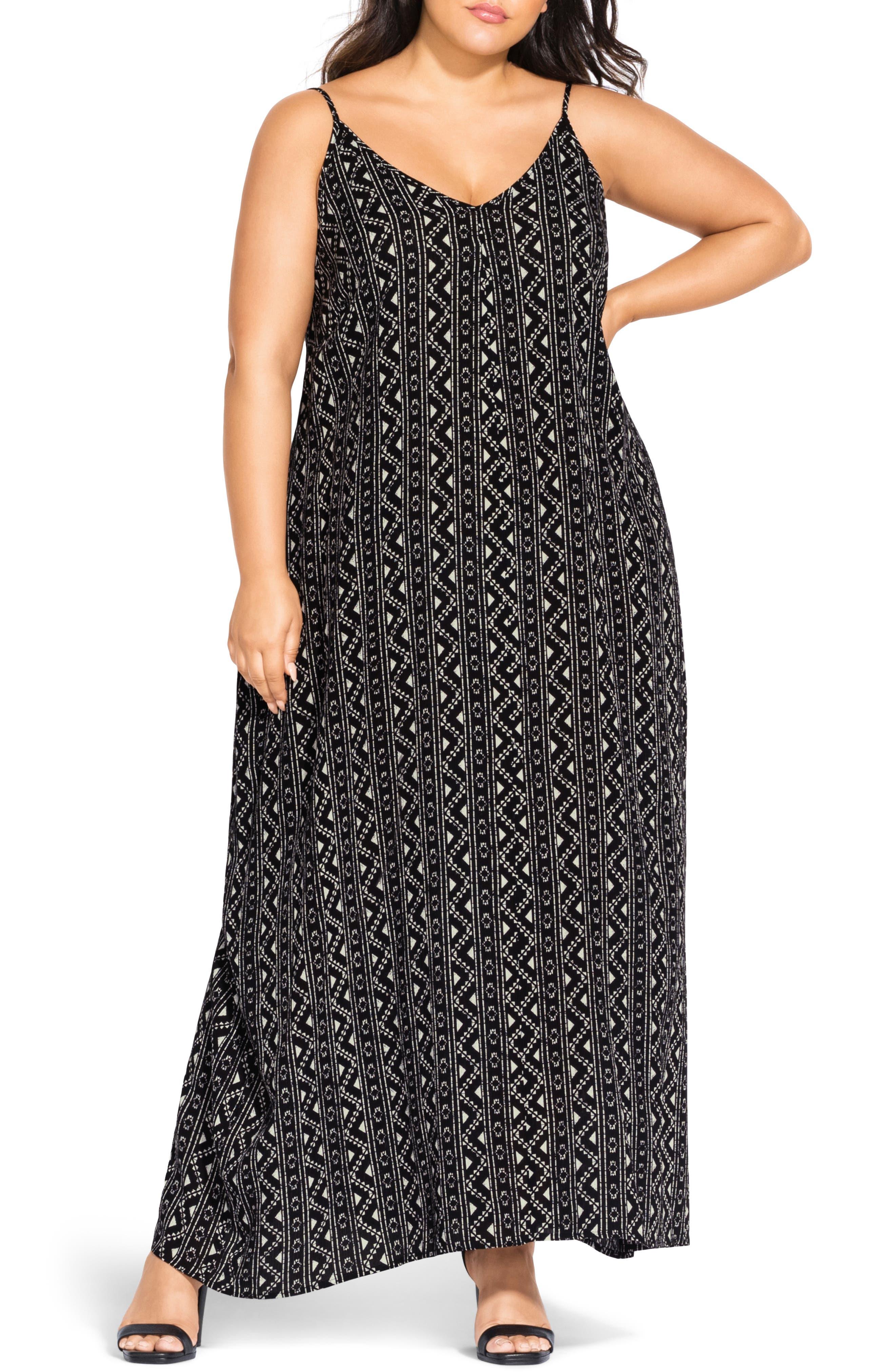 Plus Size City Chic Maxi Dress, Black