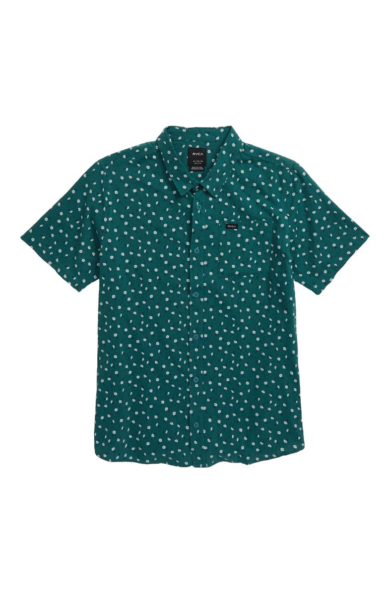 RVCA Prelude Floral Woven Shirt, Main, color, ALPINE