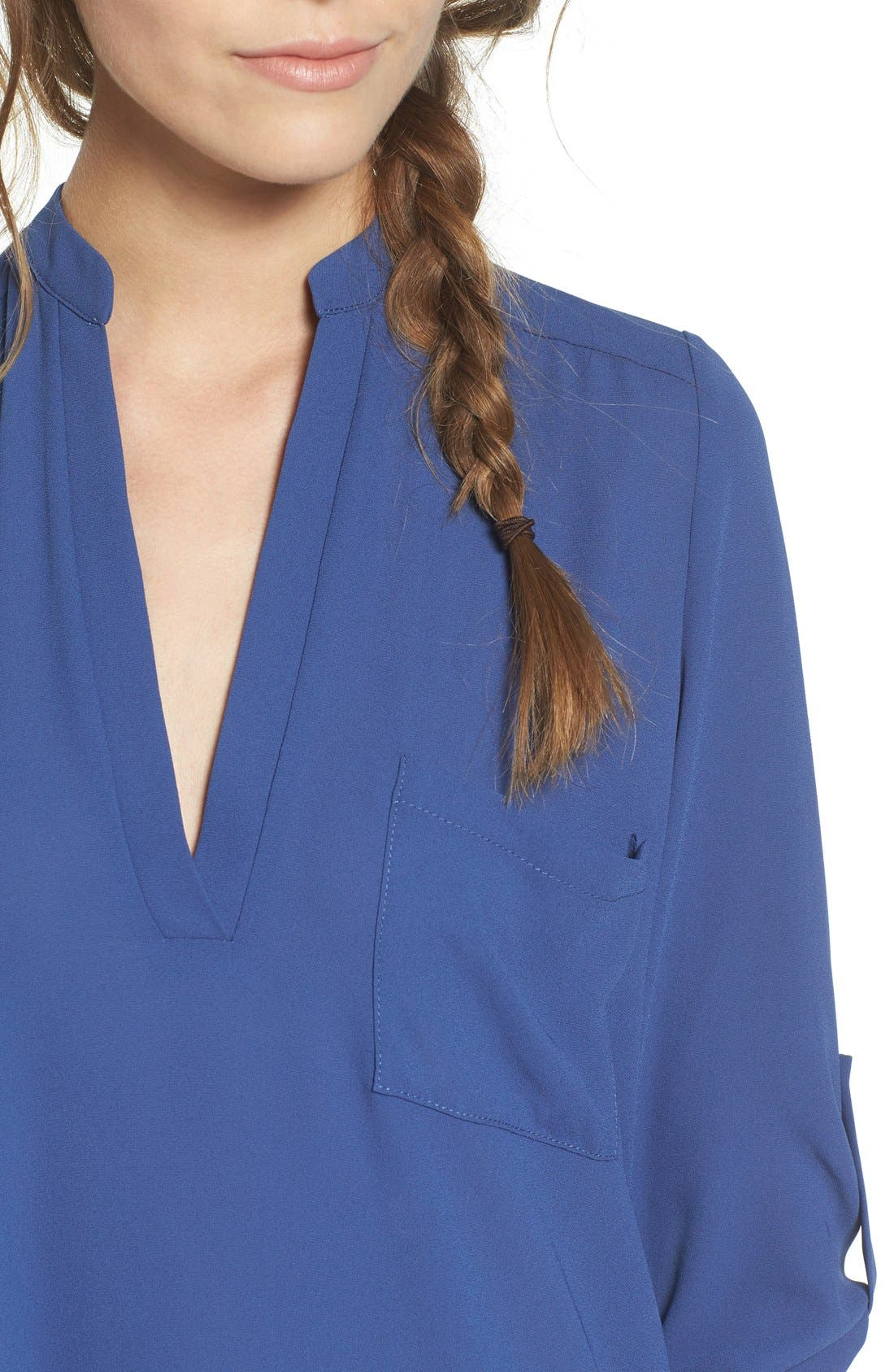 ,                             Perfect Roll Tab Sleeve Tunic,                             Alternate thumbnail 301, color,                             461
