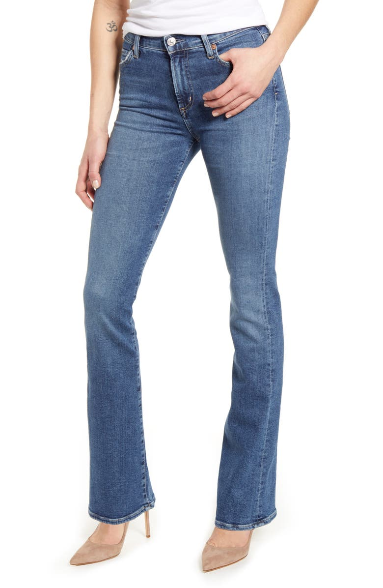 CITIZENS OF HUMANITY Emannuelle High Waist Slim Leg Bootcut Jeans, Main, color, STORY