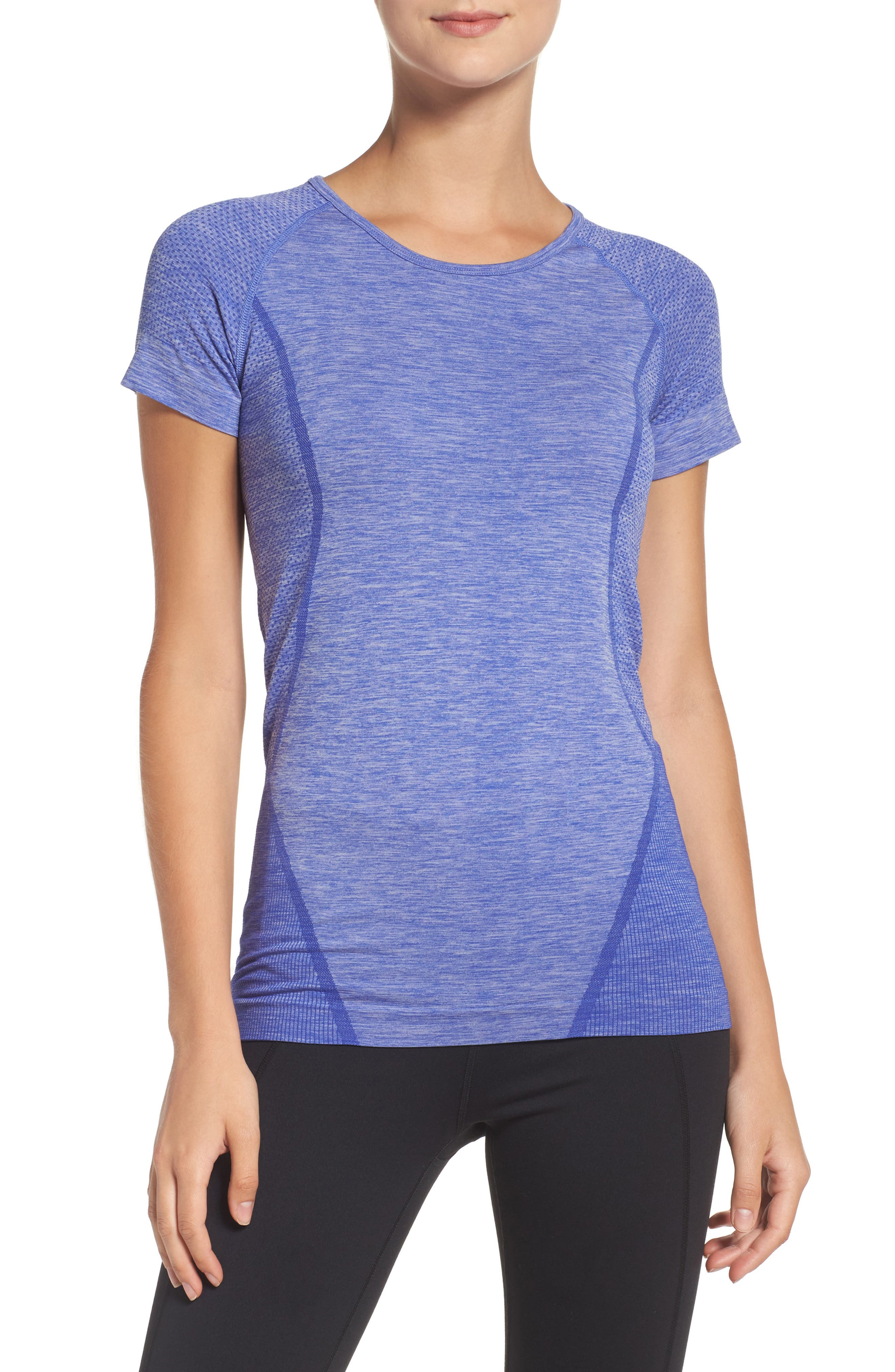 ,                             Stand Out Seamless Training Tee,                             Main thumbnail 61, color,                             420
