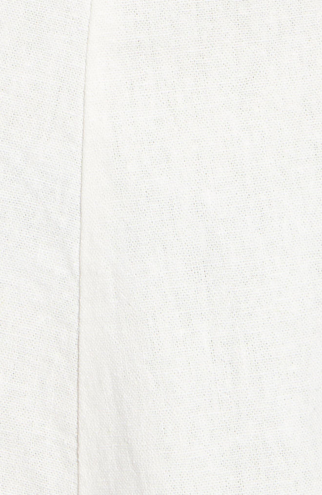 ,                             Anna Button Through Fit & Flare Dress,                             Alternate thumbnail 5, color,                             SNOW WHITE