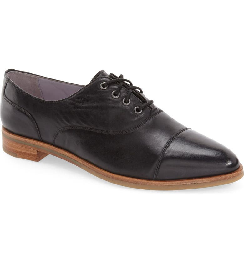 JOHNSTON & MURPHY 'Charlene' Cap Toe Oxford, Main, color, 001