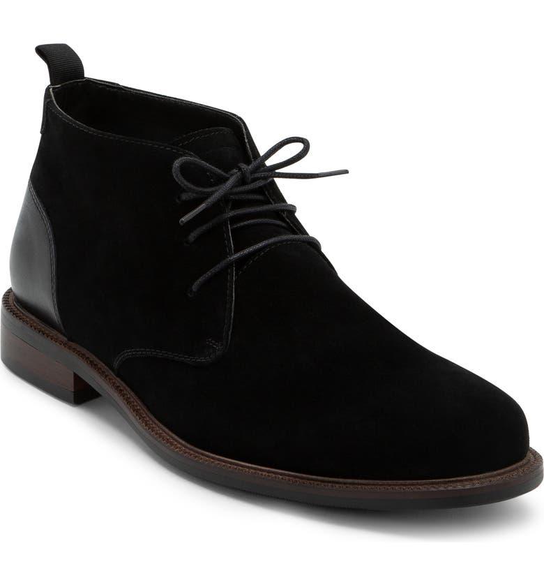 BLONDO Konor Waterproof Chukka Boot, Main, color, BLACK SUEDE
