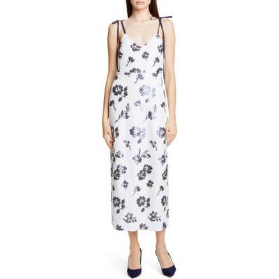 Self-Portrait Sequin Floral Midi Dress, Ivory