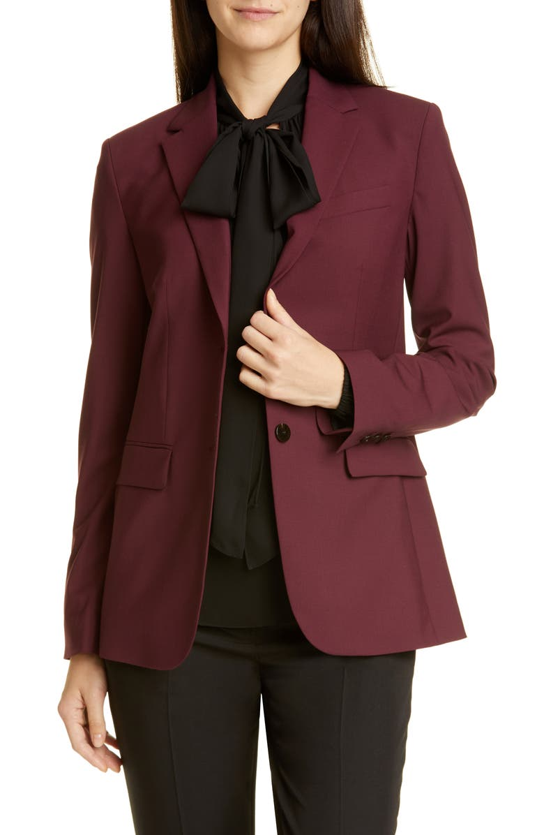 THEORY Classic Stretch Wool Jacket, Main, color, MULBERRY