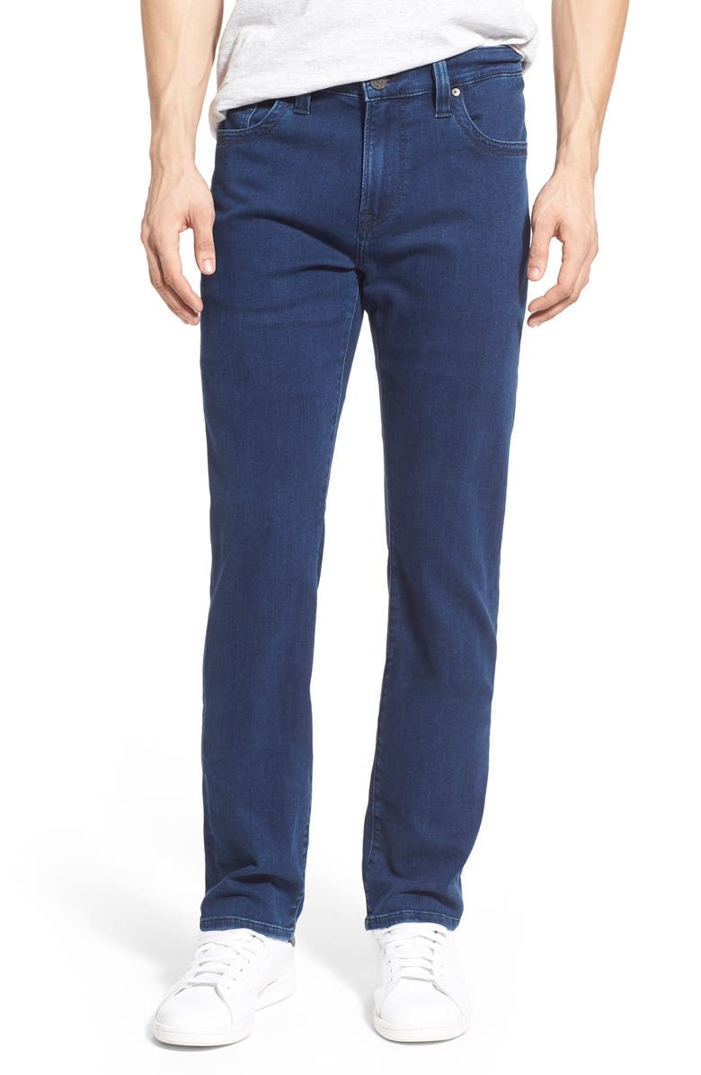 34 HERITAGE Courage Straight Leg Jeans, Main, color, MIDNIGHT LIGHT DENIM