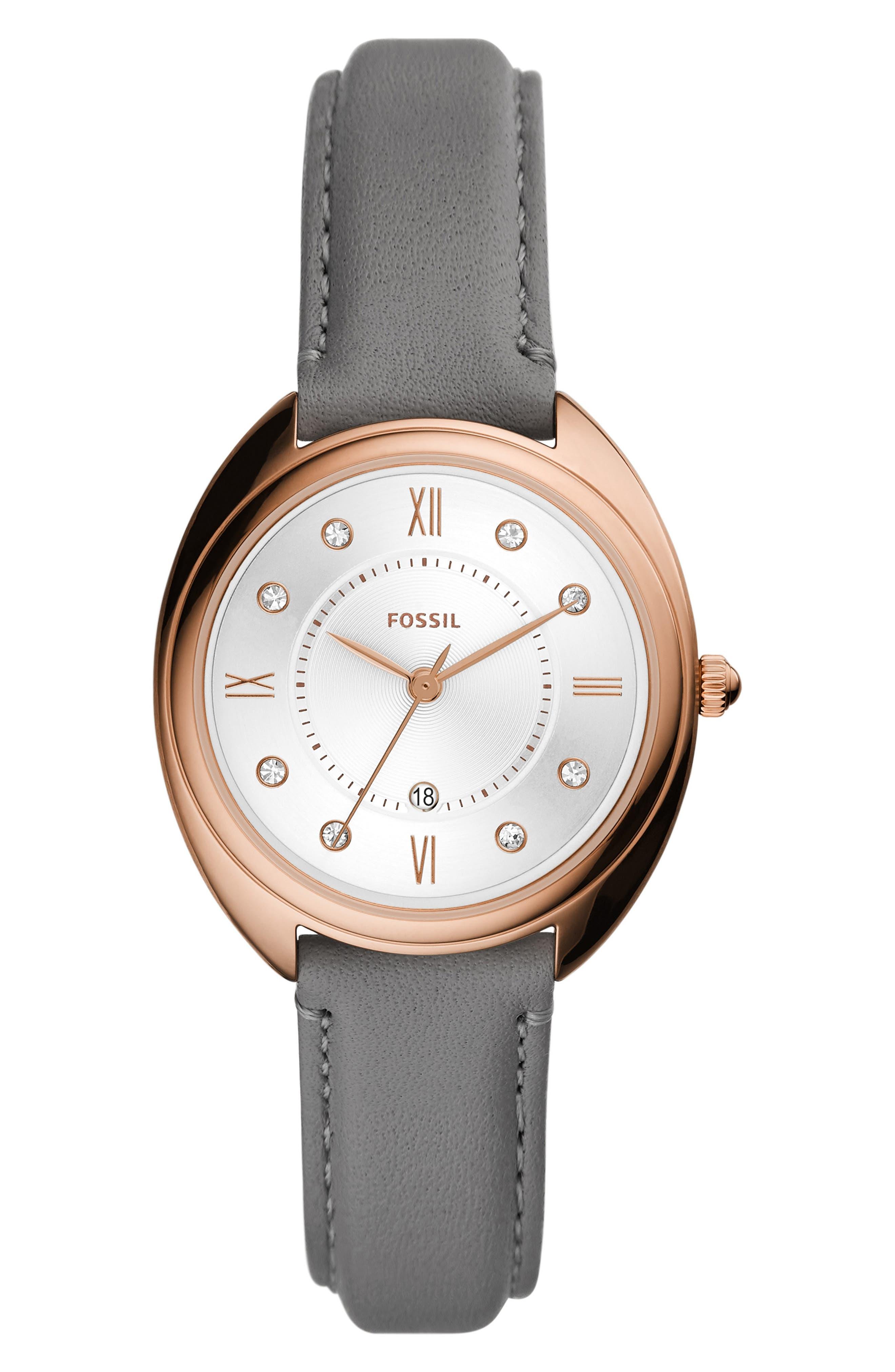 Gabby Leather Strap Watch