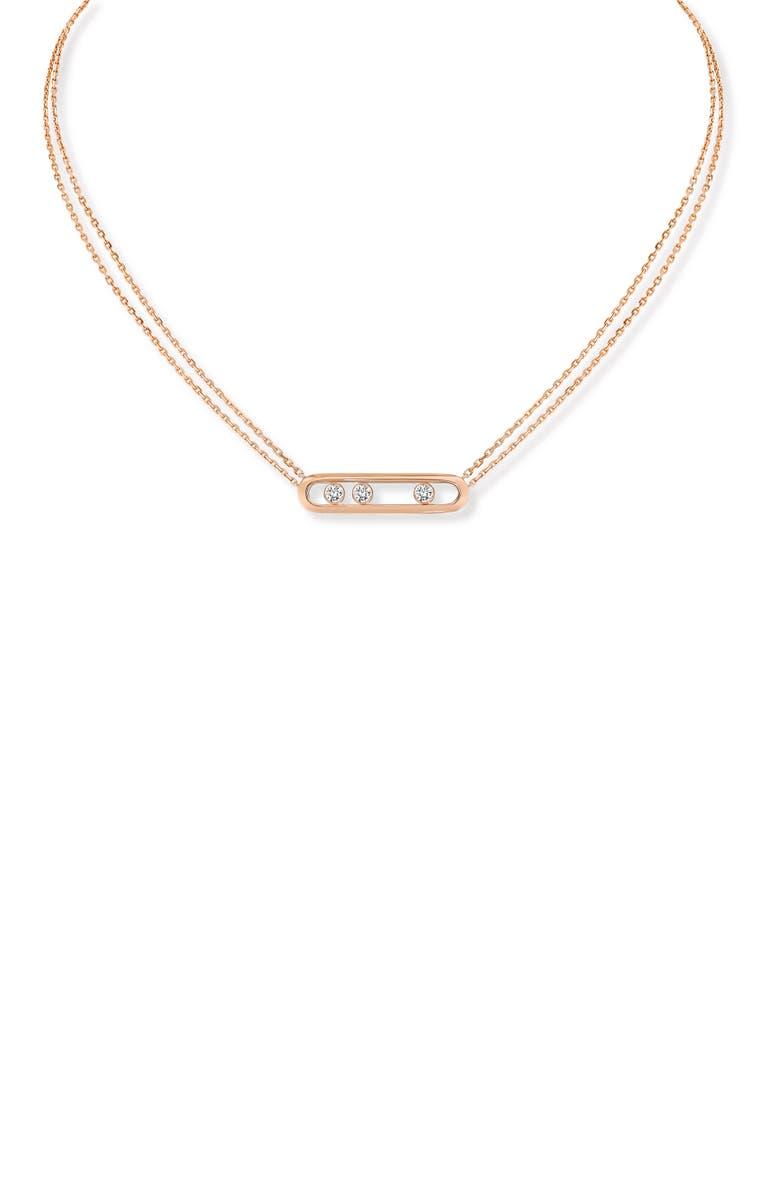 MESSIKA Two Strand Move Diamond Necklace, Main, color, ROSE GOLD