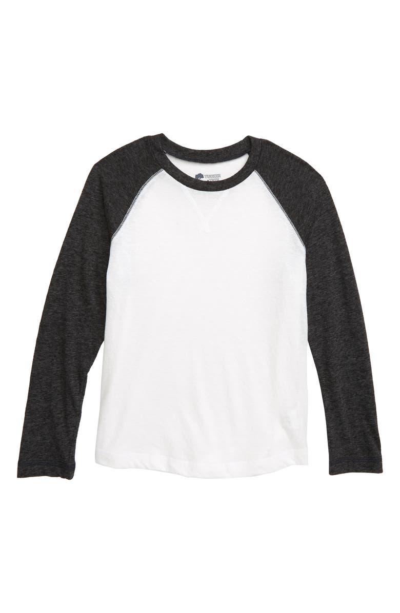 TUCKER + TATE Baseball T-Shirt, Main, color, WHITE- BLACK