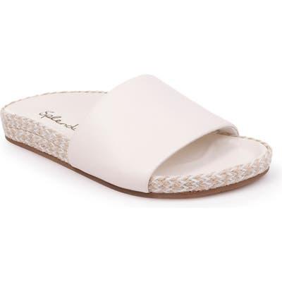 Splendid Sandford Espadrille Slide Sandal, White
