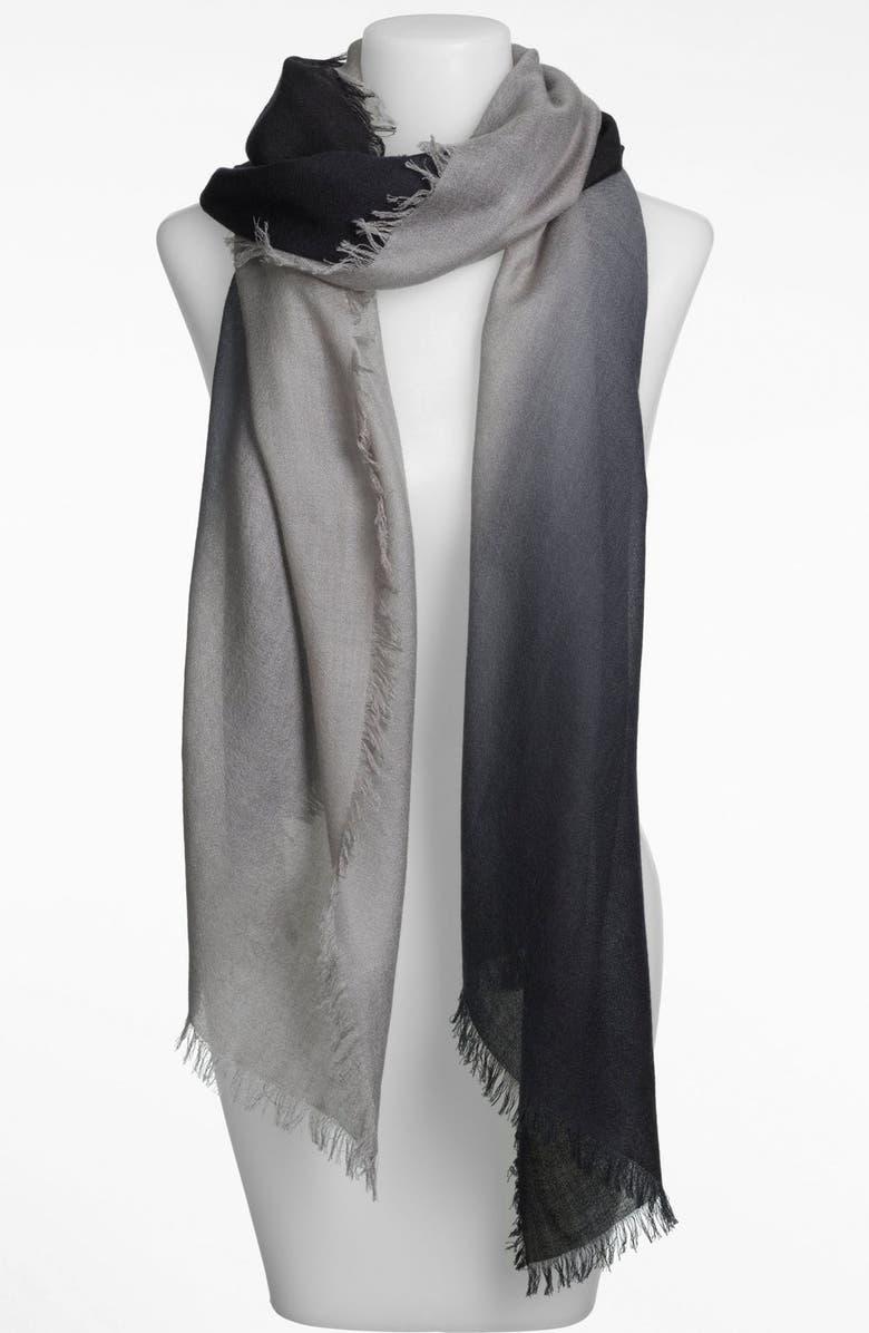NORDSTROM Ombré Eyelash Cashmere & Silk Wrap, Main, color, 001