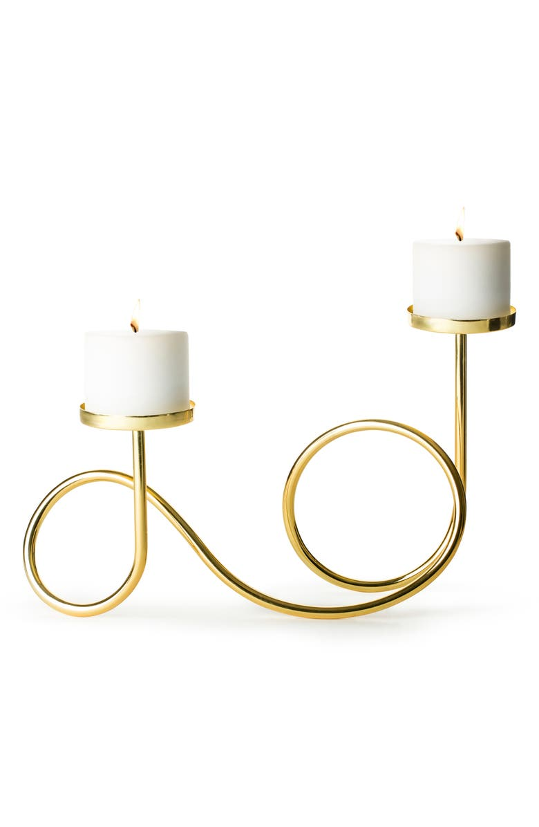 SAGAFORM Loop Candleholder, Main, color, GOLD