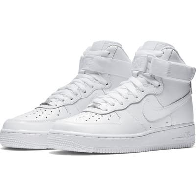 Nike Air Force 1 High Top Sneaker, White