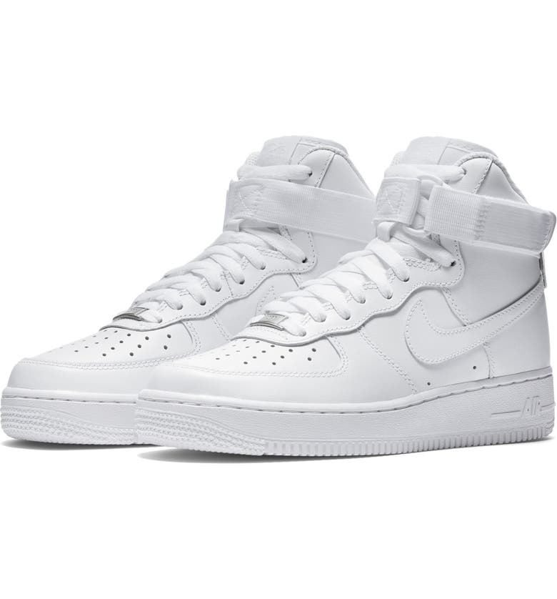 NIKE Air Force 1 High Top Sneaker, Main, color, WHITE/ WHITE/ WHITE
