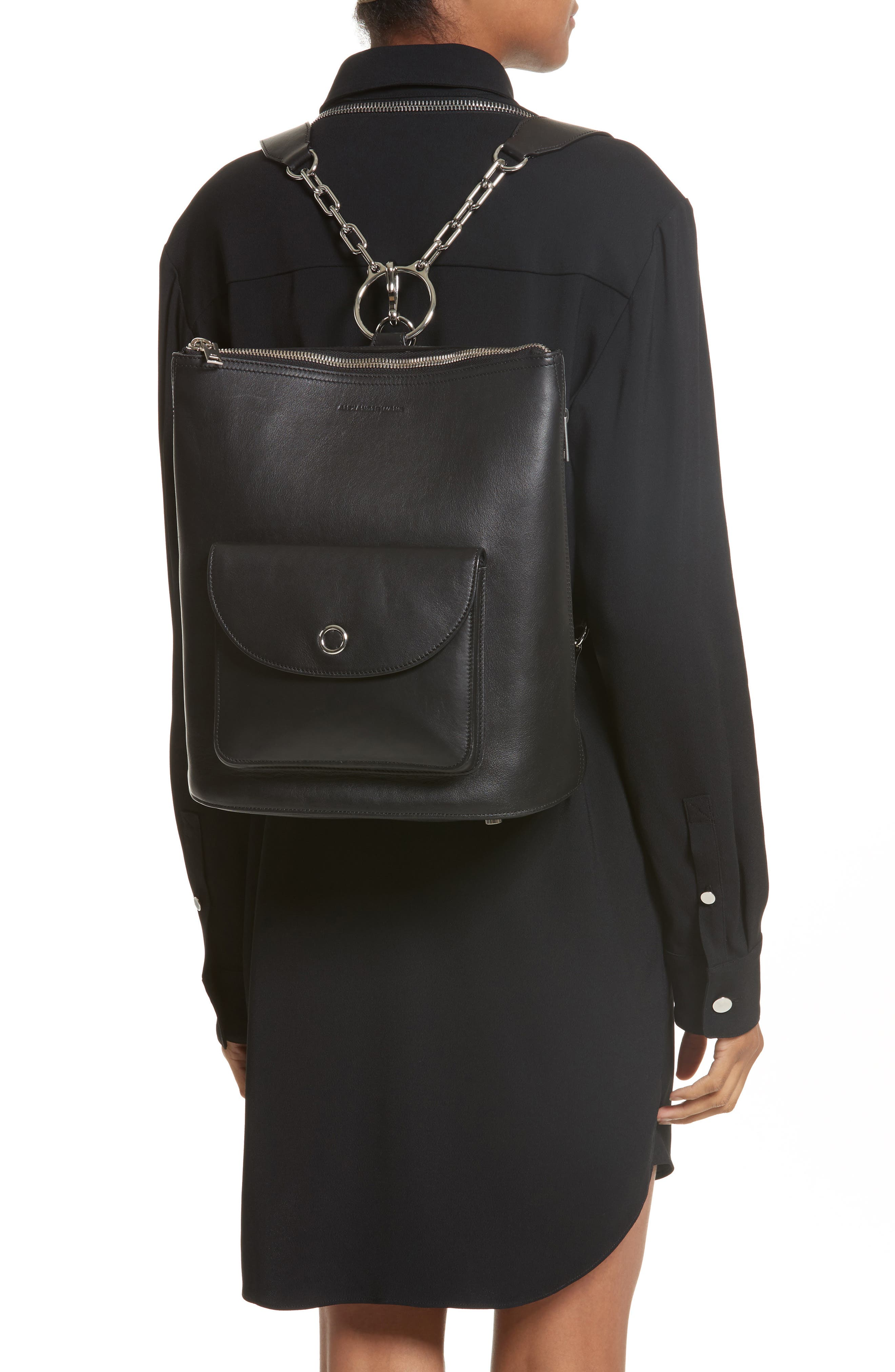 ,                             Ace Leather Backpack,                             Alternate thumbnail 2, color,                             BLACK