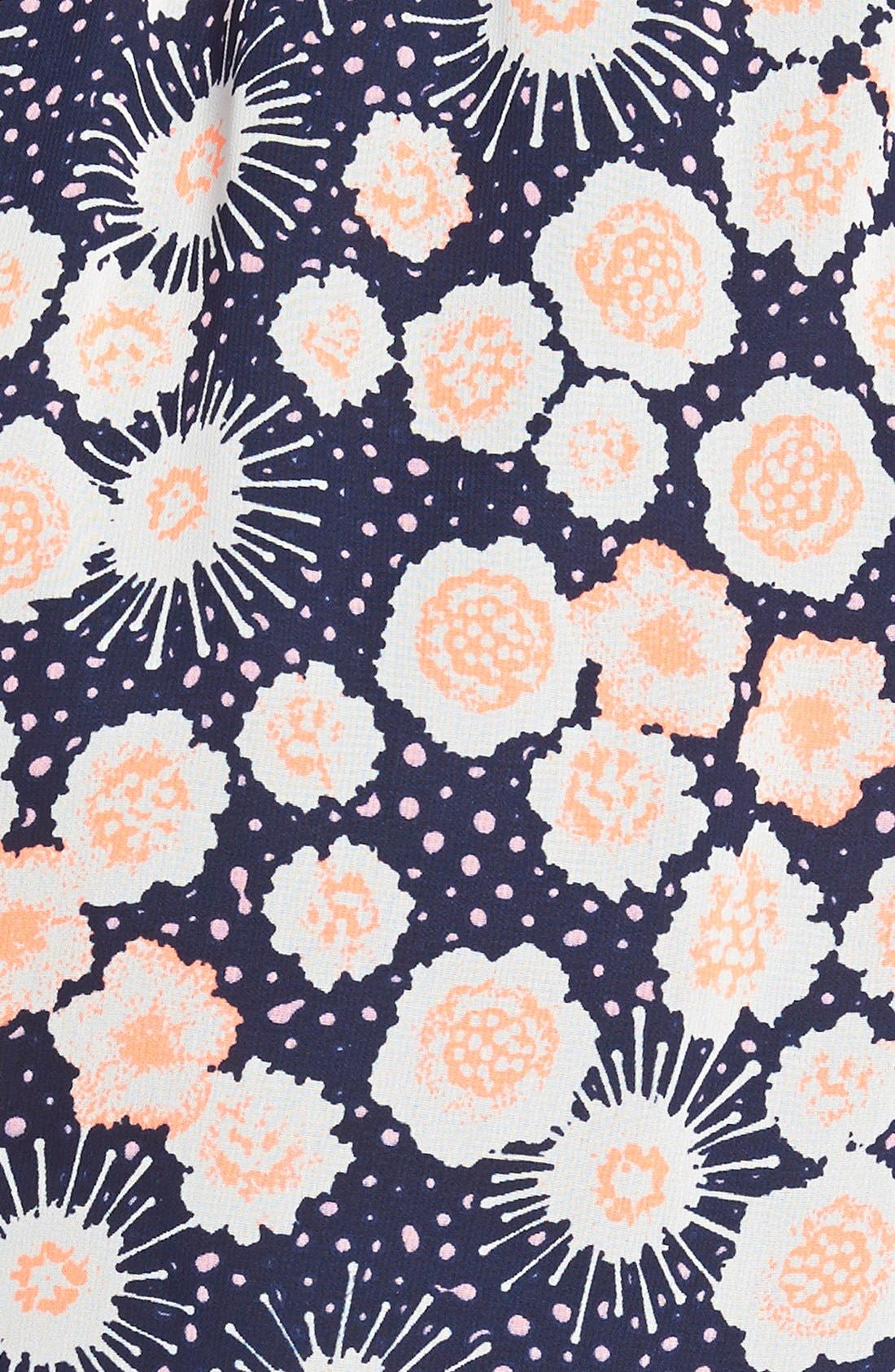 ,                             Lace Trim Floral Print Shorts,                             Alternate thumbnail 17, color,                             401
