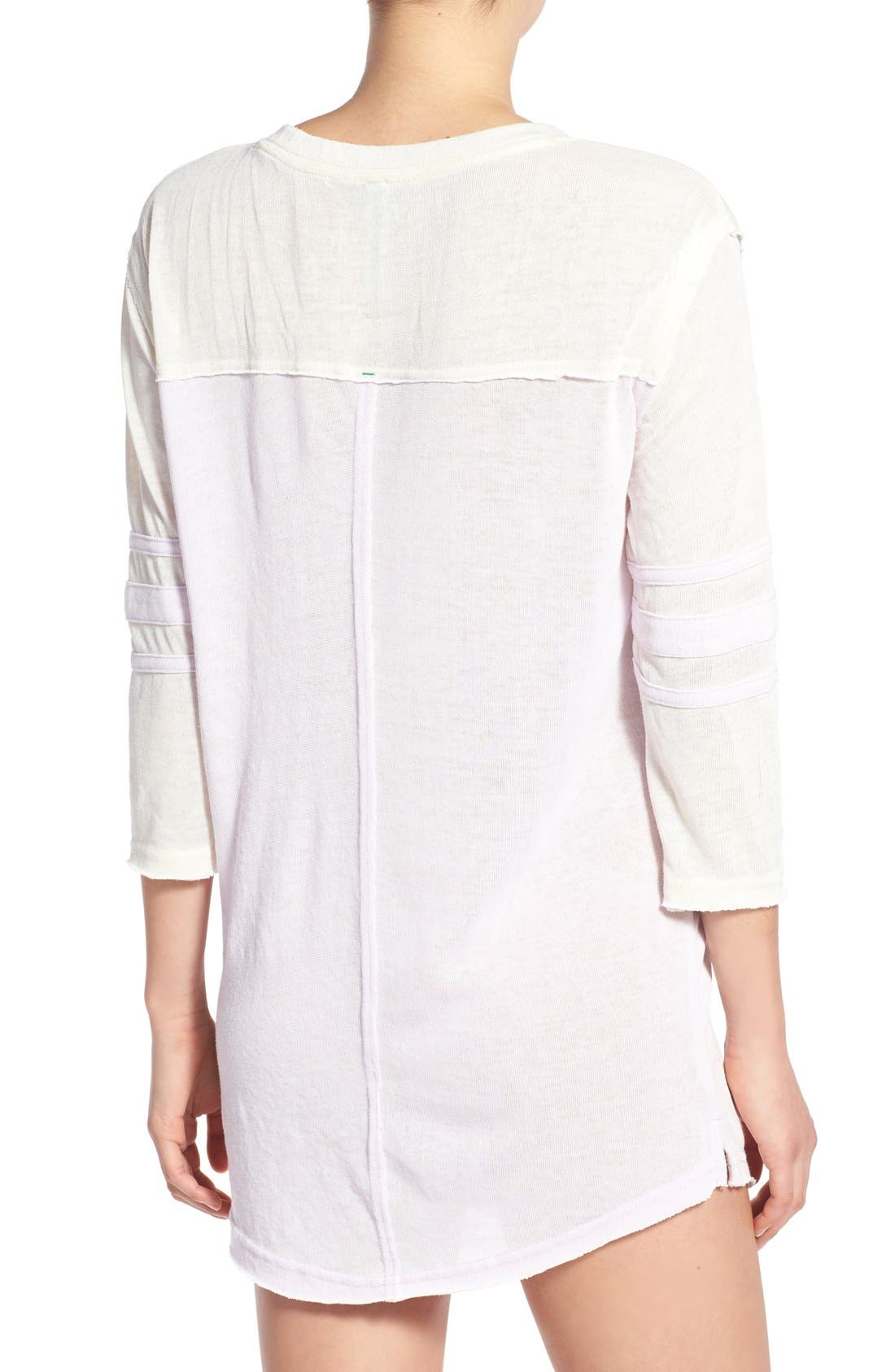 ,                             'Varsitease' Cotton Blend Sleep Shirt,                             Alternate thumbnail 52, color,                             650