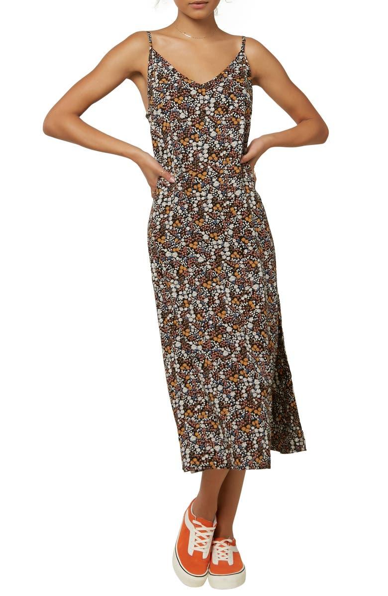 O'NEILL Meeka Floral Print Midi Dress, Main, color, MULTI COLORED
