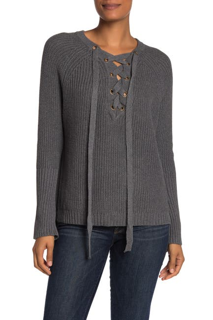 Image of BLVD Lace-Up Sweater