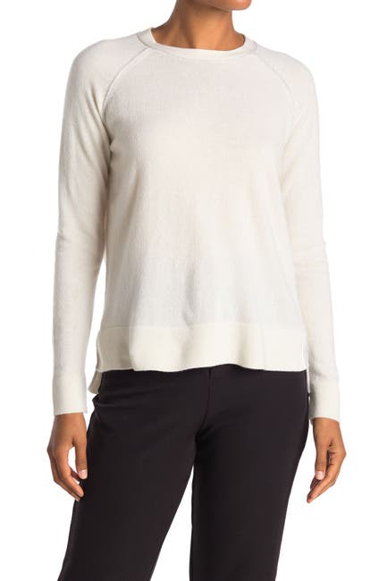 Image of Kinross Piped High/Low Cashmere Sweater