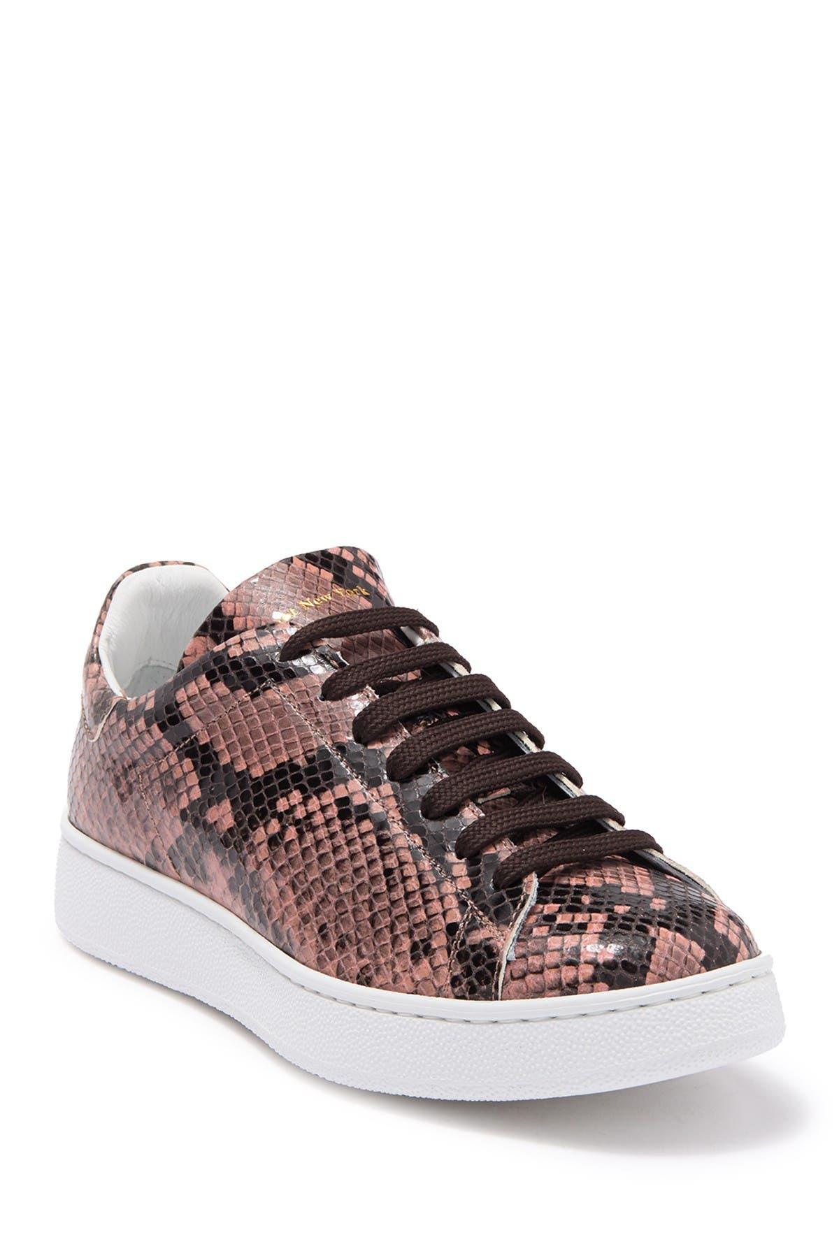 Image of To Boot New York Kelly Snake Embossed Platform Sneaker