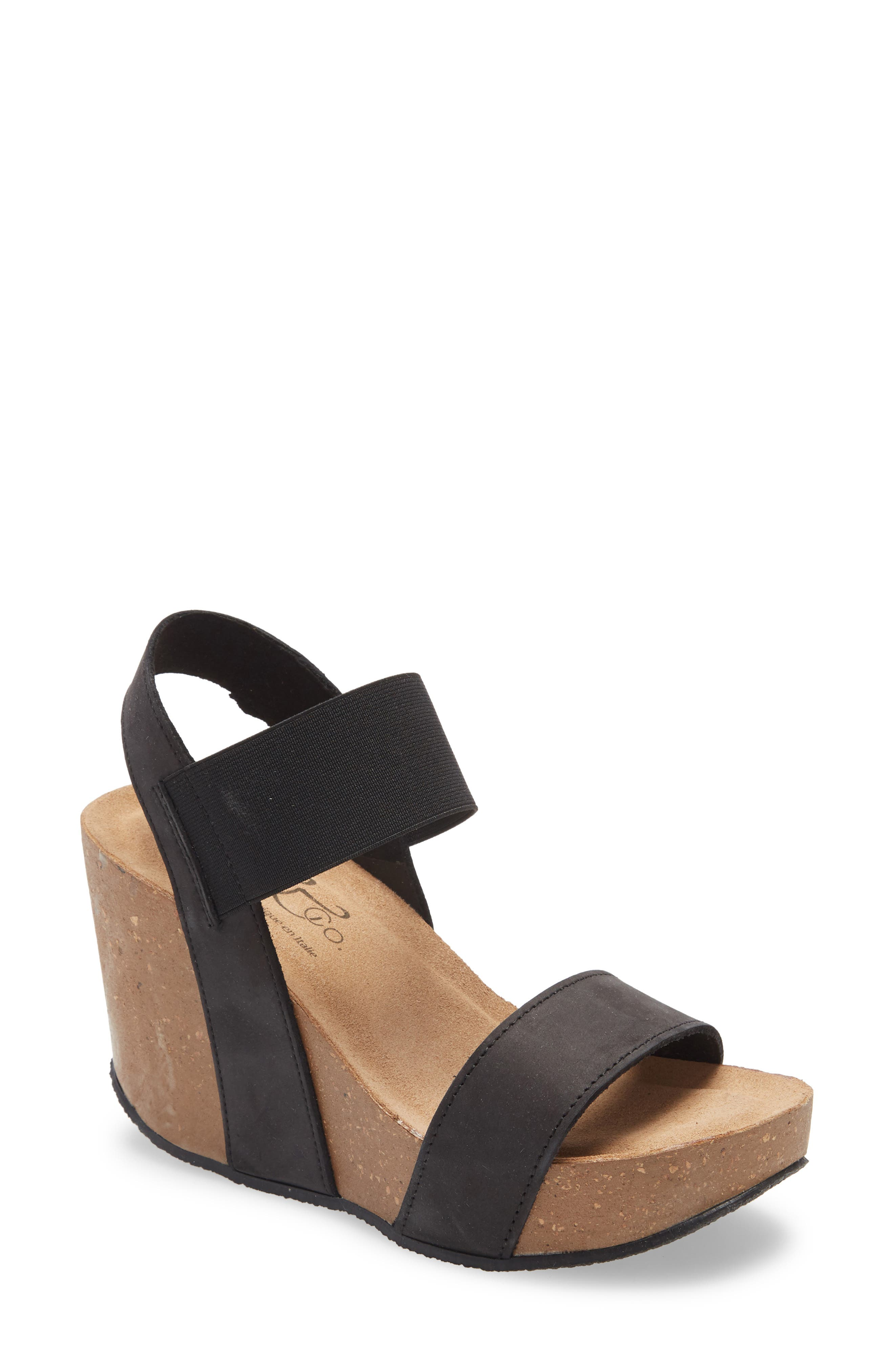 A lofty wedge adds throwback attitude to a cushioned platform sandal that\\\'s destined to stand out from the crowd. Style Name: Bos. & Co. Platform Wedge Sandal (Women). Style Number: 6002117. Available in stores.