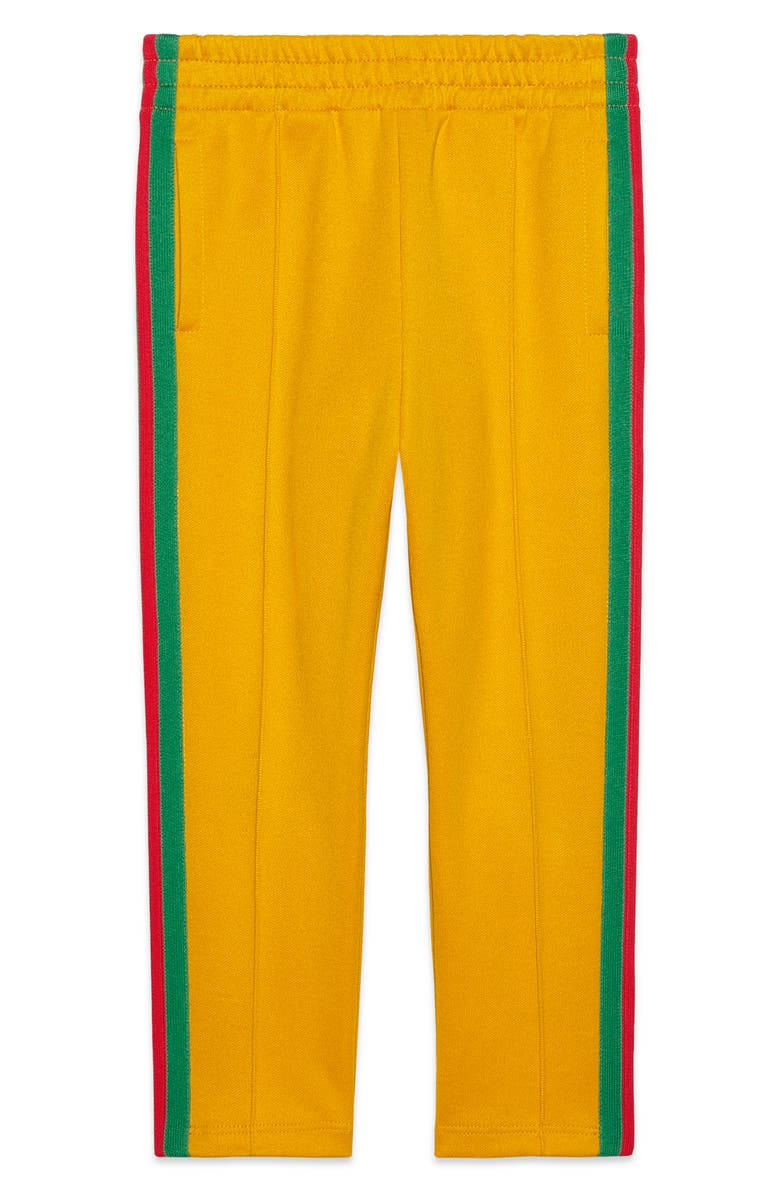 GUCCI Stripe Straight Leg Jogger Pants, Main, color, BRIGHT AMBER