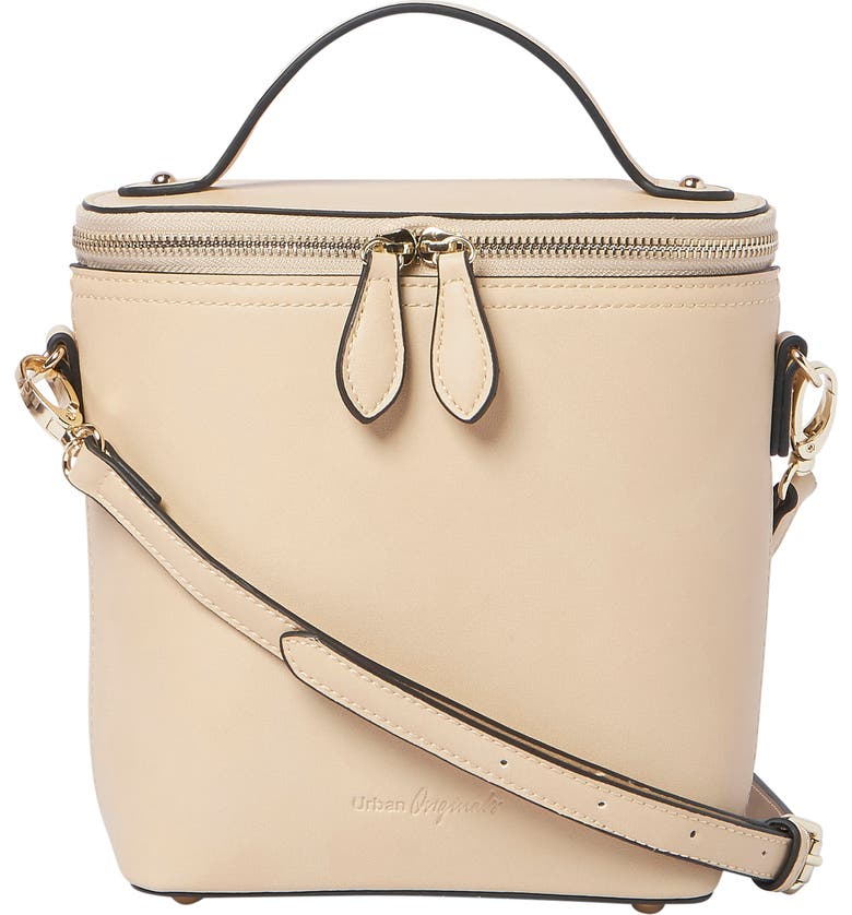 URBAN ORIGINALS Vegan Leather Bucket Bag, Main, color, BISCUIT
