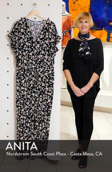 Duchess Floral Print Faux Wrap Jumpsuit, sales video thumbnail