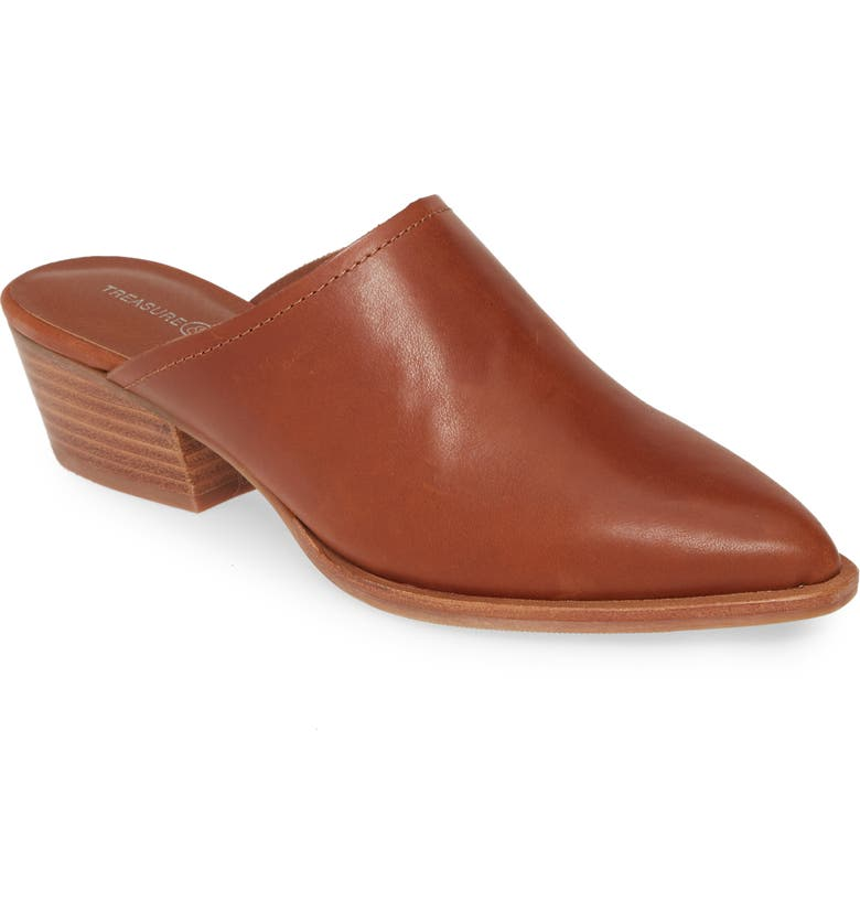 TREASURE & BOND Elle Mule, Main, color, COGNAC LEATHER
