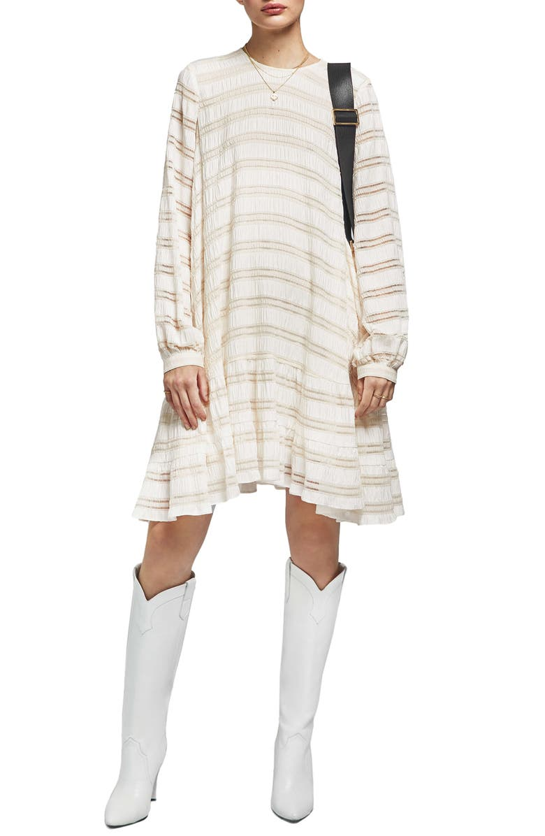 ANINE BING Viola Ladder Stitch Dress, Main, color, 900