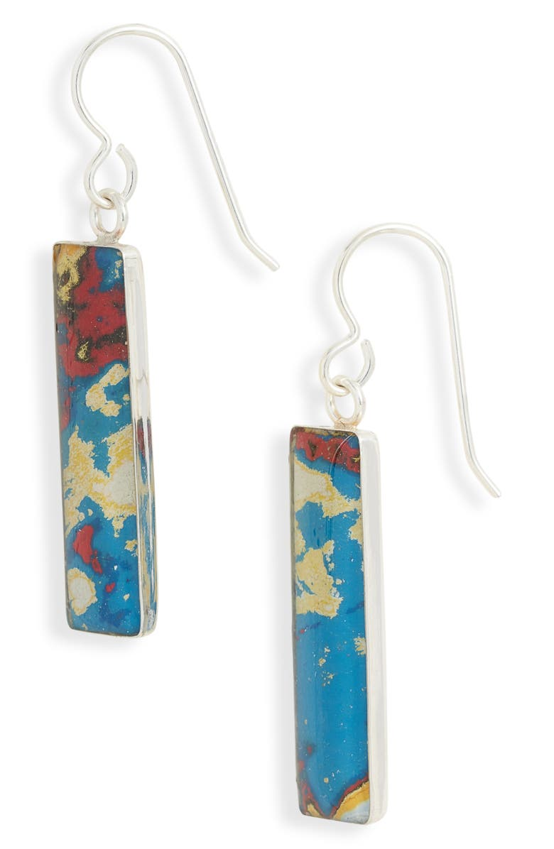 REBEL NELL Diana Drop Earrings, Main, color, BLUE