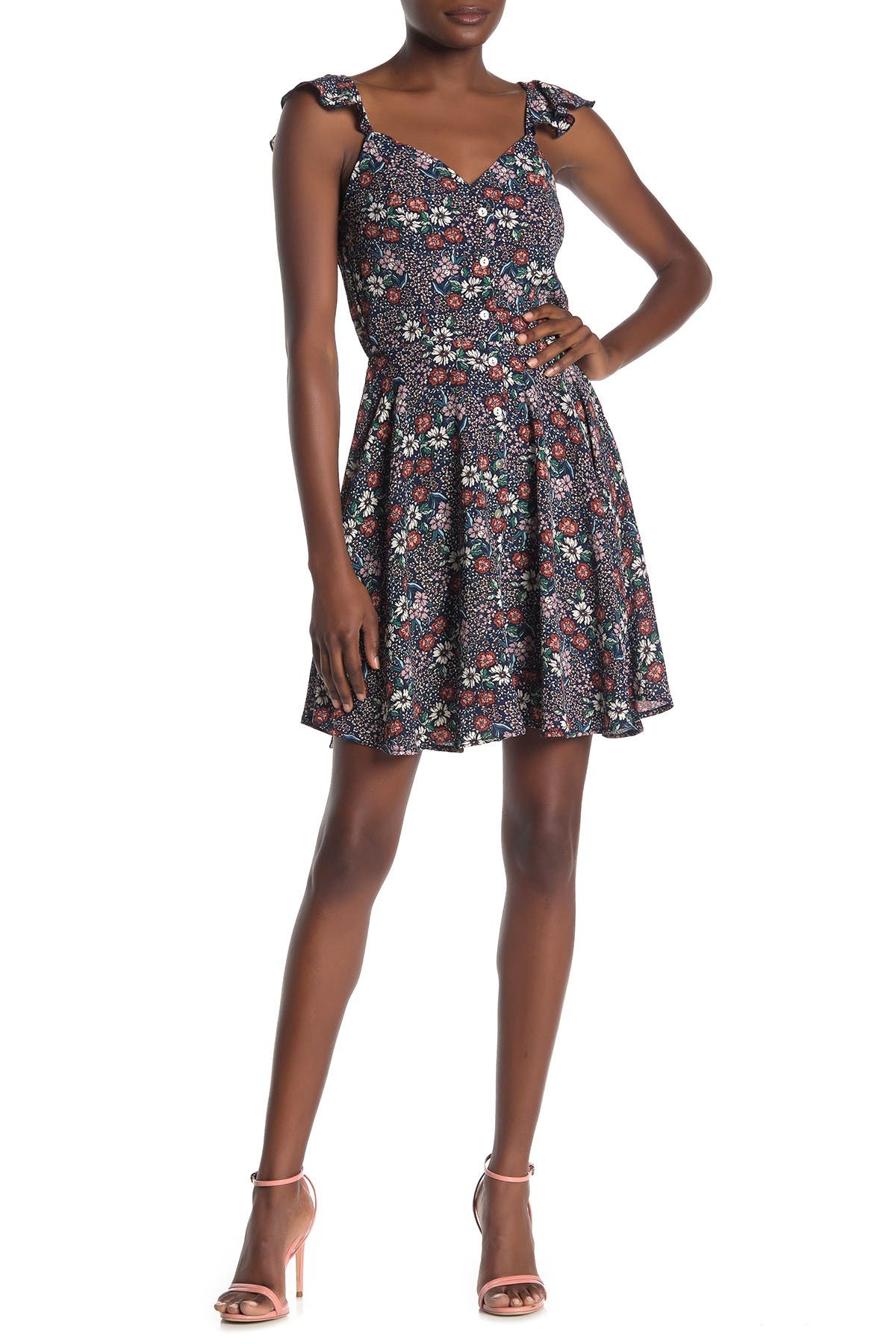 Image of BAILEY BLUE Ditsy Floral Mini Dress