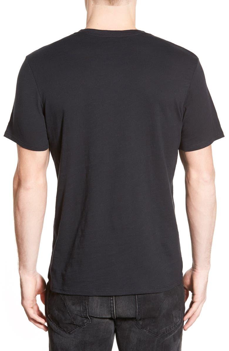 THE RAIL Slub Cotton V-Neck T-Shirt, Main, color, BLACK