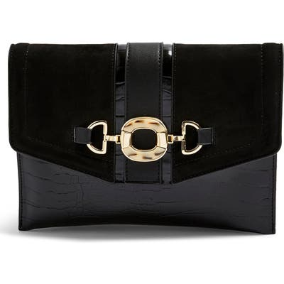 Topshop Clo Ring Clutch - Black