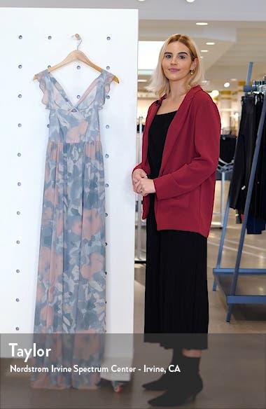 June Floral Print Ruffle Strap Gown, sales video thumbnail