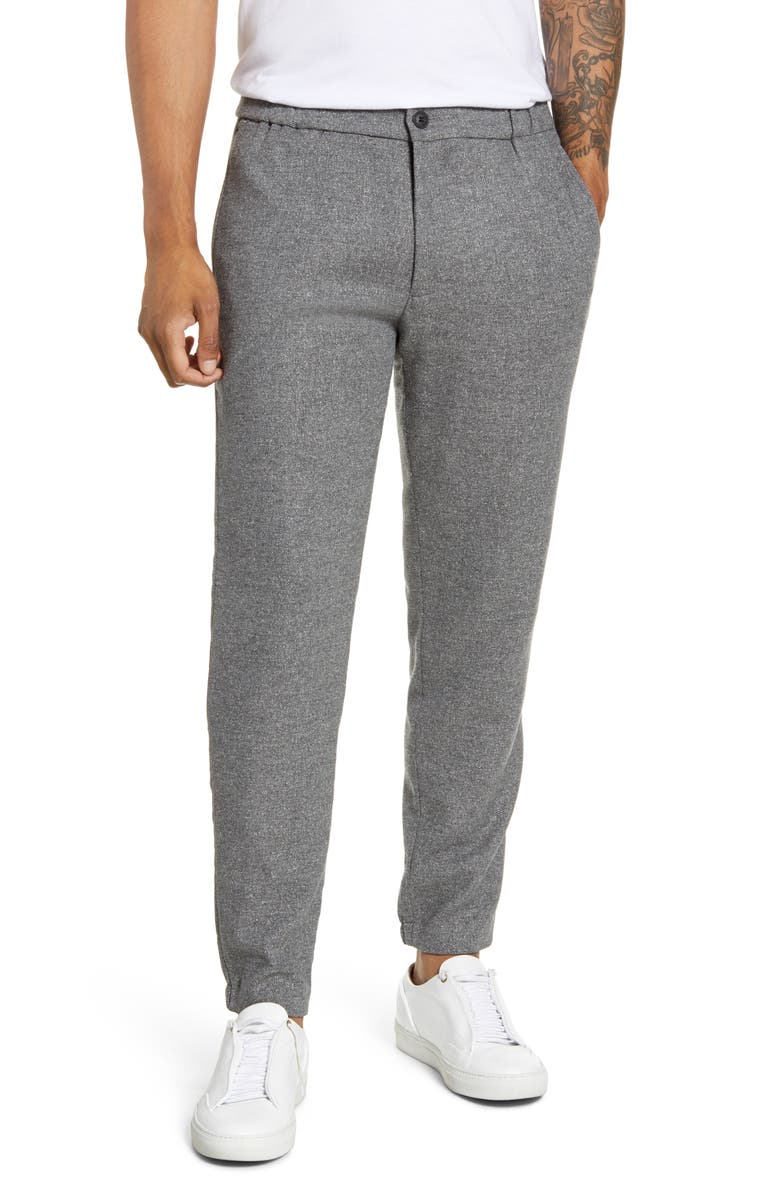 CLUB MONACO Lex Donegal Slim Fit Twill Pants, Main, color, GREY