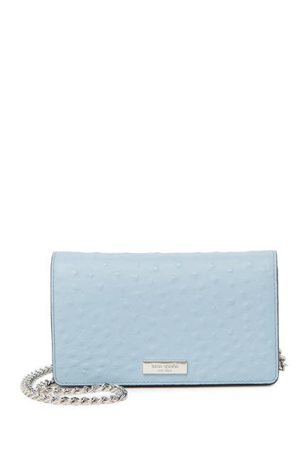 Image of kate spade new york crossbody ostrich embossed wallet