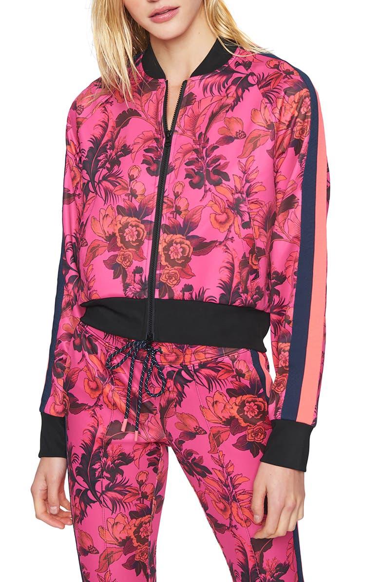 PAM & GELA Paradise Crop Track Jacket, Main, color, PINK