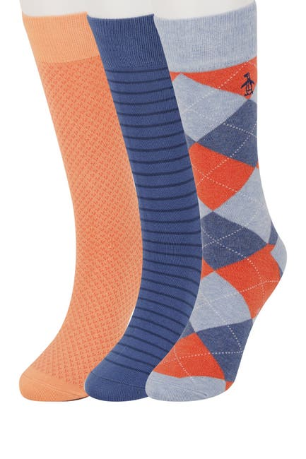 Image of Original Penguin Mark Argyle Socks - Pack of 3